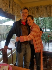 John & I after a yummy 3-course breakfast at Kangaroo House