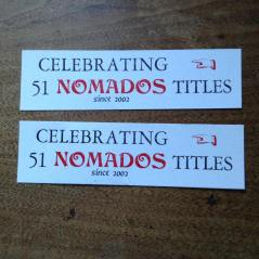 Nomados editor, Peter Quartermain's letter press bookmarks