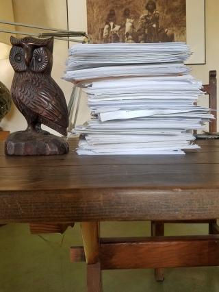 An owl-high stack
